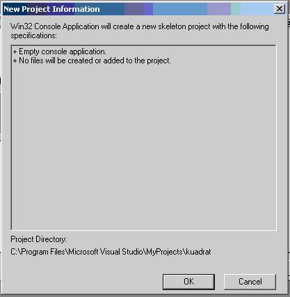Gambar Dialogbox New Projectinfo